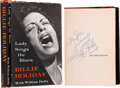 Music Memorabilia:Autographs and Signed Items, Billie Holiday Signed Copy of Lady Sings the Blues....