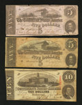 Confederate Notes:Group Lots, $20 Face.. ... (Total: 3 notes)