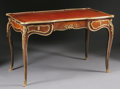 Furniture : French, A FRENCH NAPOLEON III GILT BRONZE MOUNTED BUREAU PLAT. ThirdQuarter 19th Century. 28-3/4 x 46 x 24-1/2 inches (73.0 x 116.8...