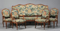 Furniture : French, A FRENCH PROVINCIAL TAPESTRY UPHOLSTERED FRUITWOOD SALON SET. Late19th-Early 20th Century. 42-1/4 x 79 x 30 inches (107.3 x...(Total: 3 Items)