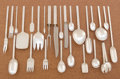 Silver & Vertu:Flatware, AN AMERICAN SILVER FLATWARE SERVICE. Porter Blanchard, Pacoima, California, circa 1920. Marks: PORTERBLANCHARD, STERLING... (Total: 105 Items)