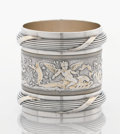 Silver Holloware, American:Napkin Rings, AN AMERICAN SILVER AND SILVER GILT NAPKIN RING. GorhamManufacturing Co., Providence, Rhode Island, 1877. Marks:(lion-ancho...