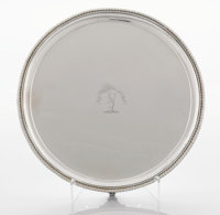 A GEORGE IV SILVER SALVER Paul Storr, London, England, 1829-1830 Marks: (lion passant), (leopard's head), (duty