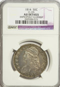 Bust Half Dollars, 1814 50C --Improperly Cleaned--NGC. AU Details. O-105. NGC Census:(28/261). PCGS Population (33/231). Mintage: 1,039,075. N...