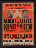 Music Memorabilia:Posters, Albert King/Little Milton Guys & Dolls Ballroom Fort WorthConcert Poster (c. 1979)....