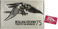 Music Memorabilia:Memorabilia, Rolling Stones Tour of the Americas '75 Banner and Stage Passes....(Total: 2 Items)