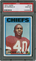 Football Cards:Singles (1970-Now), 1972 Topps Jim Marsalis #312 PSA Gem Mint 10....