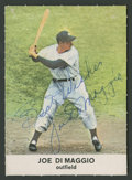 Autographs:Sports Cards, 1961 Golden Press Joe DiMaggio #9 Signed Card. ...