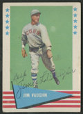 Autographs:Sports Cards, 1961 Fleer Baseball Jim Vaughn #82 Signed Card. ...