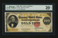 Large Size:Gold Certificates, Fr. 1215 $100 1922 Gold Certificate PMG Very Fine 20 Net....