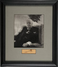 Movie/TV Memorabilia:Autographs and Signed Items, Winston Churchill Autograph Display....