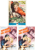 Movie/TV Memorabilia:Posters, Billy Wilder's The Big Carnival (Ace in the Hole) Foreign Release Posters.... (Total: 4 )