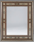 Furniture , A MOORISH MOTHER-OF-PEARL INLAID HARDWOOD MIRROR. 66-1/2 x 52-1/8 inches (168.9 x 132.4 cm). ...