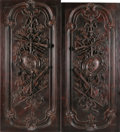 Furniture : French, A PAIR OF FRENCH LOUIS XVI STYLE CARVED WOOD PANELS. 85 x 38-5/8inches (215.9 x 98.1 cm) each. ... (Total: 2 Items)