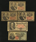 Fractional Currency:Fifth Issue, Five Fractional Notes.. ... (Total: 5 notes)