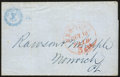 Stamps, 1850, October 10, New York, N.Y. to Norwich, Ct....
