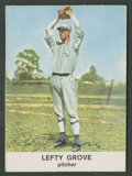 Autographs:Index Cards, 1961 Golden Press Lefty Grove #17 Signed Card. ...