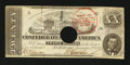 Confederate Notes:1862 Issues, T51 $20 1862 with March 1864 Trans-Mississippi Stamp.. ...
