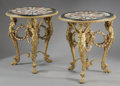 Furniture , A PAIR OF NEOCLASSICAL STYLE GILT BRONZE AND PIETRA DURA GUERIDONS. 32-1/4 x 29 x 29 inches (81.9 x 73.7 x 73.7 cm) each. ... (Total: 2 Items)
