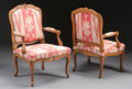 Furniture : French, A PAIR OF FRENCH PROVINCIAL CHERRY ARMCHAIRS. 18th Century. 37-1/4x 27 x 27 inches (94.6 x 68.6 x 68.6 cm) each. ... (Total: 2 Items)