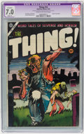 Golden Age (1938-1955):Horror, The Thing! #16 (Charlton, 1954) CGC Apparent FN/VF 7.0 Slight (A)Cream to off-white pages....
