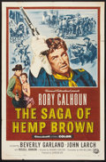 "Movie Posters:Western, The Saga of Hemp Brown (Universal International, 1958). One Sheet (27"" X 41""). Western.. ..."