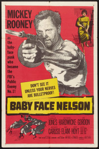 "Baby Face Nelson (United Artists, 1957). One Sheet (27"" X 41""). Crime"