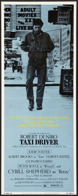 "Taxi Driver (Columbia, 1976). Insert (14"" X 36""). Crime"
