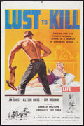 """Movie Posters:Western, Lust to Kill (Barjul International Pictures, 1959). One Sheet (27""""X 41""""). Western.. ..."""