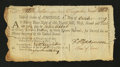 Colonial Notes:Continental Congress Issues, Continental Loan Office Bill of Exchange Fourth Bill- $12 Oct. 1,1779 Anderson US-94/MA-5A. Fine....