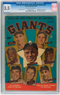 Golden Age (1938-1955):Non-Fiction, Thrilling True Story of the Baseball Giants #nn (Fawcett, 1952) CGCVG- 3.5 Off-white to white pages....