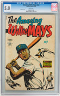 Golden Age (1938-1955):Non-Fiction, The Amazing Willie Mays #nn (Famous Funnies, 1954) CGC VG/FN 5.0White pages....