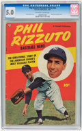 Golden Age (1938-1955):Non-Fiction, Phil Rizzuto Baseball Hero #nn (Fawcett, 1951) CGC VG/FN 5.0Off-white to white pages....
