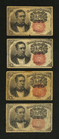Fractional Currency:Fifth Issue, Fr. 1265 and Fr. 1266 10¢ Fifth Issue Very Good. Four ExamplesTotal.... (Total: 4 notes)