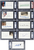 Autographs:Index Cards, Baseball Signed Index Card Collection (27) PSA/DNA CertifiedAuthentic....