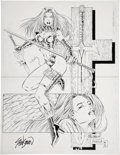 Original Comic Art:Splash Pages, John Stinsman and Marlo Alquiza Avengelyne Bible Pin-UpOriginal Art (Maximum Press, 1996-2000)....