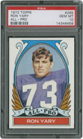 Football Cards:Singles (1970-Now), 1972 Topps Ron Yary All-Pro #265 PSA Gem Mint 10....