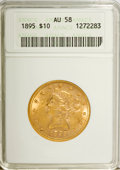 Liberty Eagles: , 1895 $10 AU58 ANACS. NGC Census: (80/8511). PCGS Population(154/4299). Mintage: 567,700. Numismedia Wsl. Price for NGC/PCG...