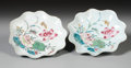 Asian:China Trade, A PAIR OF CHINESE EXPORT PORCELAIN LOTUS DISHES. 19th Century. 5inches (12.7 cm) diameter, each. ... (Total: 2 Items)