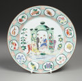 Asian:China Trade, A CHINESE EXPORT FAMILLE ROSE PORCELAIN PLATE . After a design byCornelius Pronk, Circa 1740. 10-1/4 inches (26.0 cm) diame...