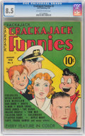 Golden Age (1938-1955):Cartoon Character, Crackajack Funnies #3 (Dell, 1938) CGC VF+ 8.5 Off-white to white pages....