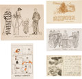 Political:Small Paper (1896-present), Woman's Suffrage: Oversized Virginia Suffrage and Four Propaganda Postcards.... (Total: 5 Items)