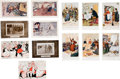 Political:Small Paper (1896-present), Woman's Suffrage: Thirteen English Comic Postcards.... (Total: 13 Items)
