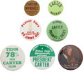 Political:Pinback Buttons (1896-present), Jimmy Carter: Lot of Seven Presidential Campaign Pinbacks.... (Total: 7 Items)