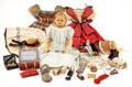 "Antiques:Folk Art, ""Rose Percy"" Doll with Extensive Wardrobe and Accessories, Sold in 1864 to Raise Funds for the Sanitary Commission, and on Dis... (Total: 23 Items)"