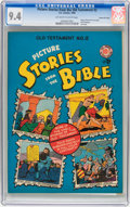 Golden Age (1938-1955):Religious, Picture Stories from the Bible Old Testament #2 Gaines Filepedigree 3/12 (EC, 1946) CGC NM 9.4 Off-white to white pages....