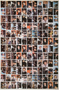 "Music Memorabilia:Memorabilia, Beatles Uncut Sheet of Topps ""Beatles Diary"" Trading Cards...."