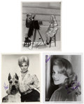 Movie/TV Memorabilia:Autographs and Signed Items, Kim Novak and Other Actress Signed Photos.... (Total: 3 )