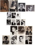 Movie/TV Memorabilia:Autographs and Signed Items, Richard Burton and Other Actors Vintage Autographed Photos....(Total: 18 )