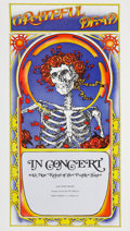 "Music Memorabilia:Posters, Grateful Dead ""Skeleton and Roses"" East Town Theater Concert Poster(1971)...."